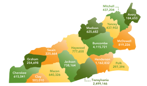 2014 Pounds per county