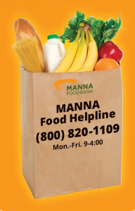 MANNA food helpline graphic