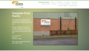 Template Food Pantry on Strikingly