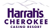 Harrah's Cherokee logo; Manna Food Bank Sponsor