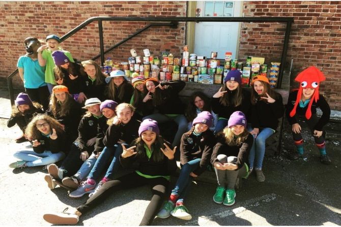 Student Food Drive_French Broad River Academy_girls